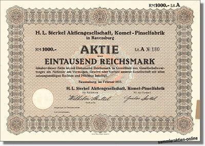 H.L. Sterkel AG, Komet-Pinselfabrik