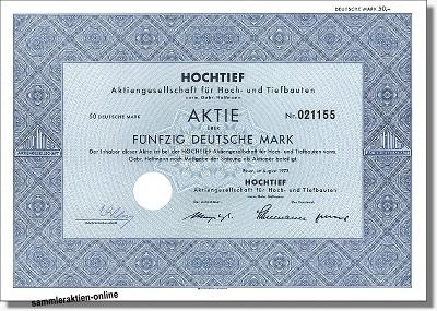 Hochtief AG für Hoch- und Tiefbauten