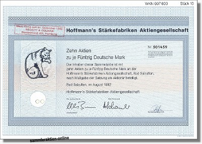 Hoffmann's Stärkefabriken Aktiengesellschaft