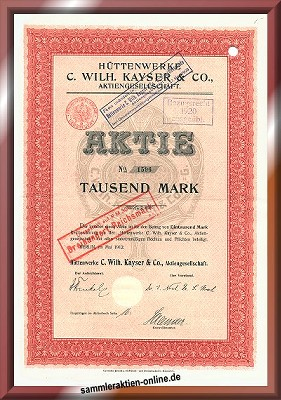Hüttenwerke C. Wilh. Kayser Co. AG