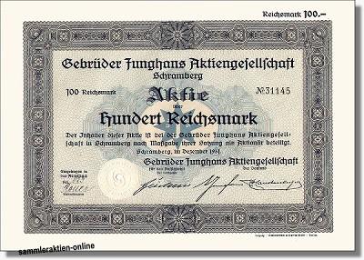 Junghans, Gebrüder-Junghans AG