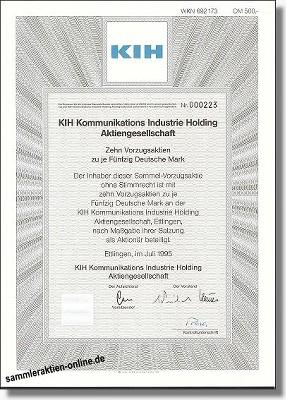 KIH Kommunikations Industrie Holding AG