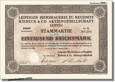 Leipziger Bierbrauerei zu Reudnitz Riebeck & Co.