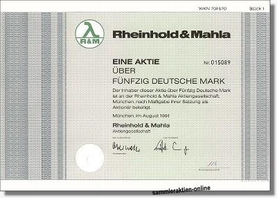 Rheinhold & Mahla AG