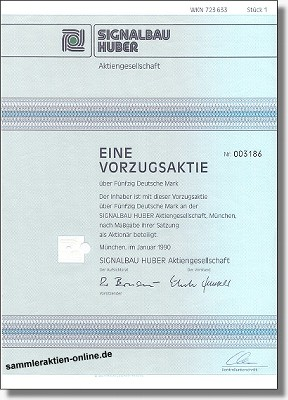 Signalbau Huber Aktiengesellschaft