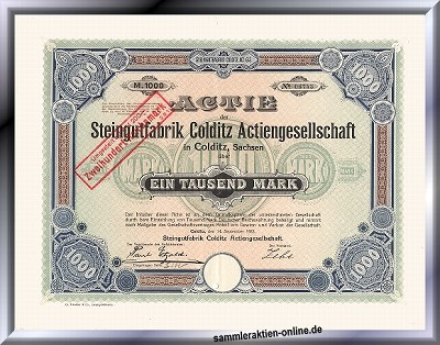 Steingutfabrik Colditz Actiengesellschaft