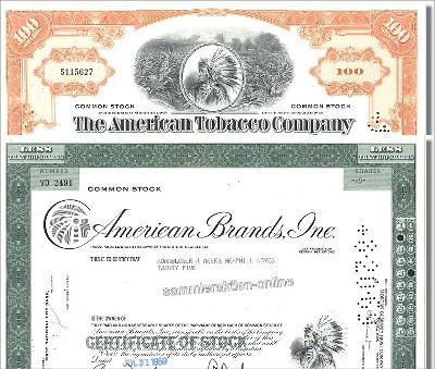 Branchenset Tabak 2-3 - American Tobacco & American Brands