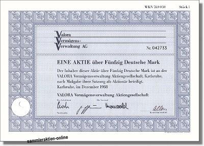 Valora (VVV) Vermögensverwaltung Aktiengesellschaft