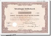 Cochemer Volksbank - Vereinigte Volksbank Sonderrubrik