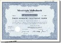 Vereinigte Volksbank Aktiengesellschaft