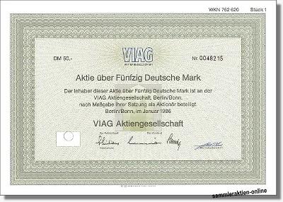 Viag Aktiengesellschaft - heute E.ON