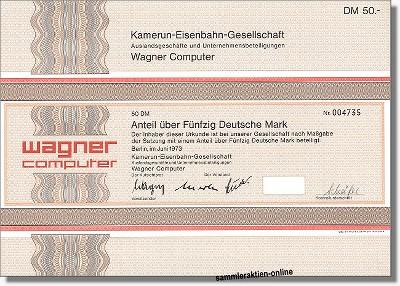 Kamerun-Eisenbahn-Gesellschaft - Wagner Computer