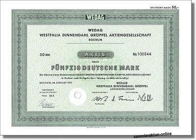 Wedag AG - Westfalia Dinnendahl Gröppel