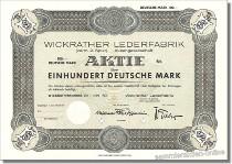 Wickrather Lederfabrik vorm. Z. Spier Aktiengesellschaft