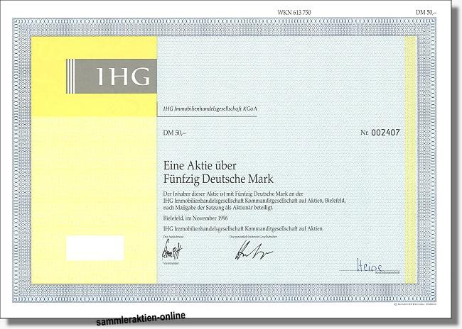 IHG Immobilienhandelsgesellschaft KGaA