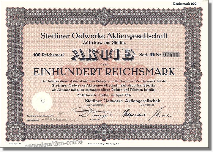 Stettiner Oelwerke AG, heute Oelmühle Hamburg