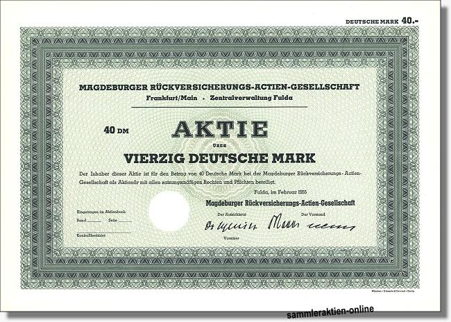 Magdeburger Rückversicherungs-Actien-Gesellschaft