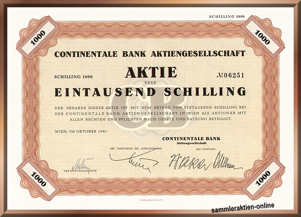 Continentale Bank AG