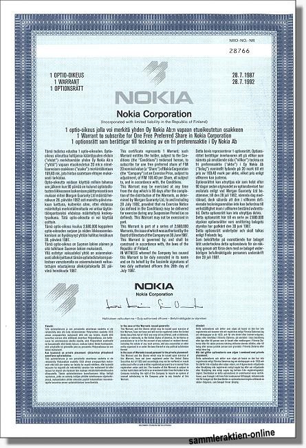 Nokia Corporation - Nokia Oyj