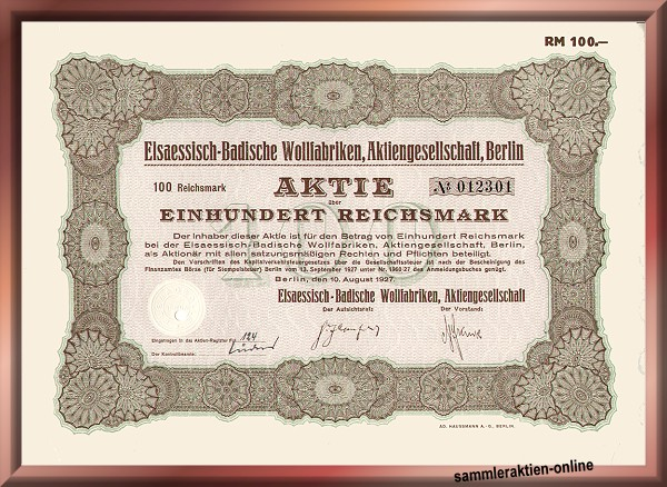 Elsaessisch-Badische Wollfabriken AG