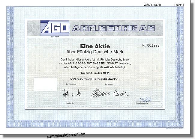 Arn. Georg AG - AGO