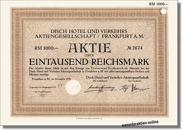 Disch Hotel und Verkehrs AG
