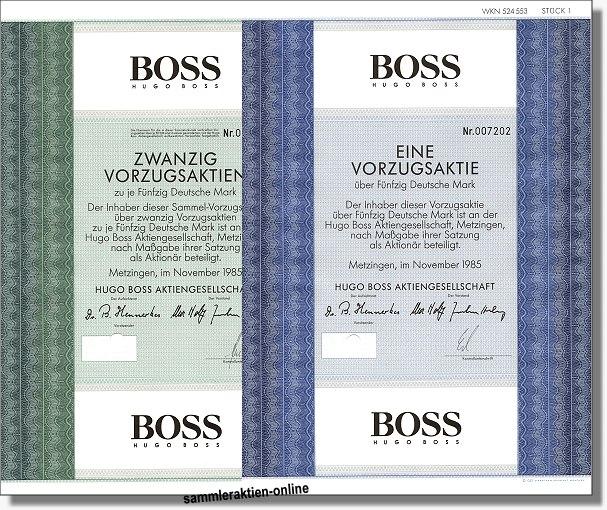 HUGO BOSS AG<br>2 versch.d. Vorzugsaktien