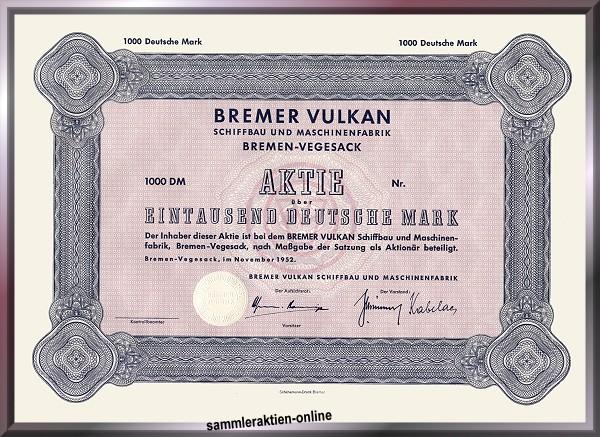 Bremer Vulkan Schiffbau und Maschinenfabrik