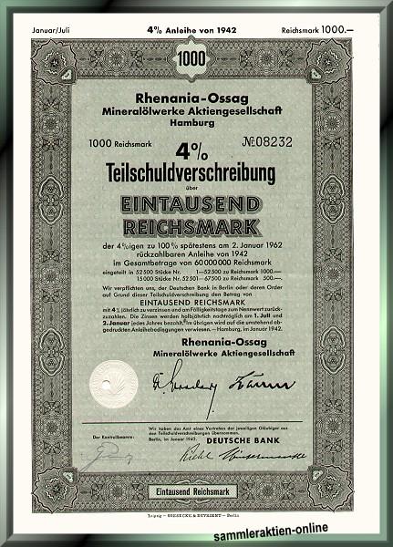 Rhenania-Ossag Mineralölwerke AG, heute Shell AG