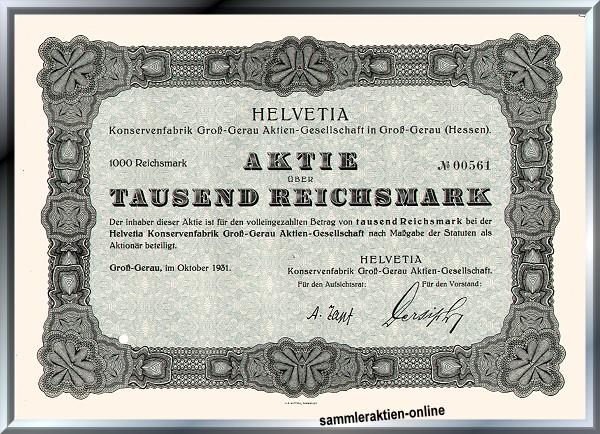 HELVETIA Konservenfabrik AG
