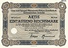 Alte Aktien, historische Wertpapiere, Schmuckaktien, Sammleraktien  aus dem Bereich Steingut, Glas, Keramik