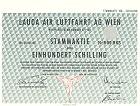 Lauda Air Luftfahrt Aktie