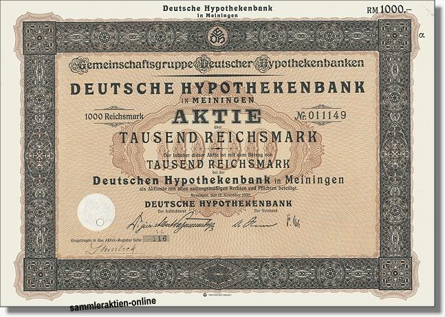 Deutsche Hypothekenbank in Meiningen