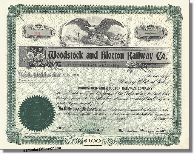 Woodstock and Blocton Railway Company