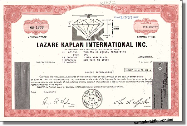 Lazare Kaplan International Inc.