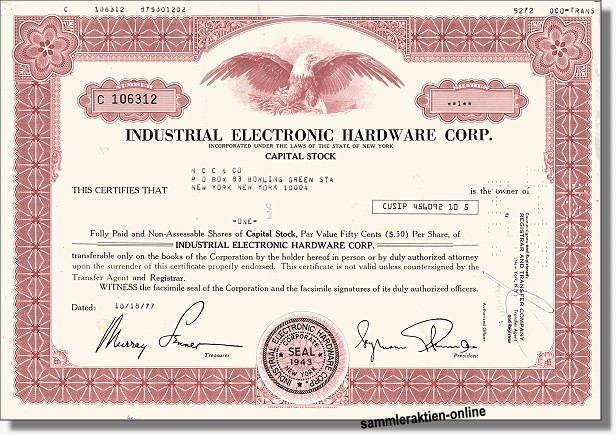 Industrial Electronic Hardware Corp.