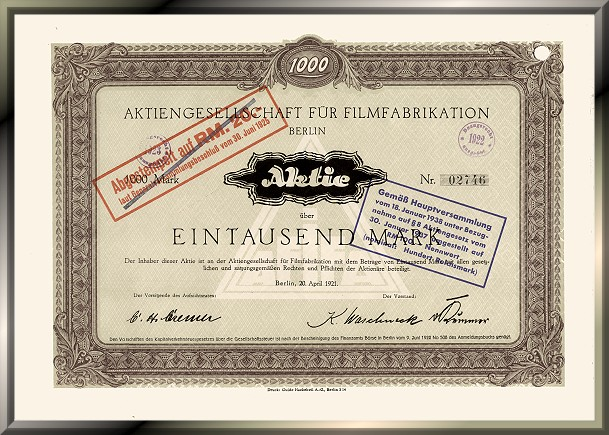 Aktiengesellschaft für Filmfabrikation - UFA