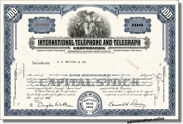 ITT - International Telephone & Telegraph Corporation