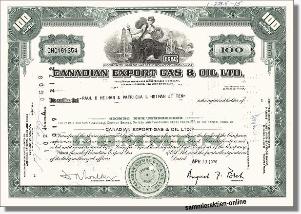 Canadian Export Gas & Oil Ltd.