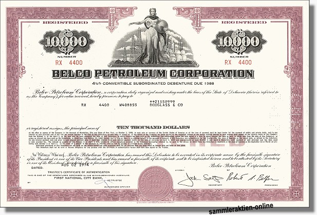 Belco Petroleum Corporation, später Enron