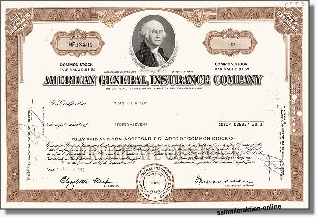 American General Insurance Company