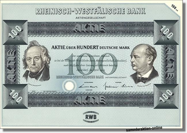 Rheinisch-Westfälische Bank - Deutsche Bank
