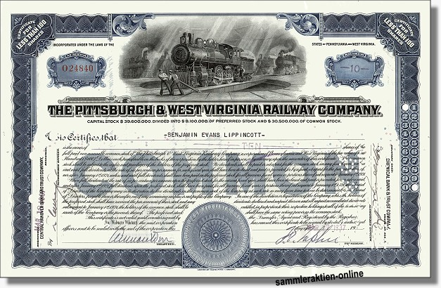 Pittsburgh & West Virginia Railway Company