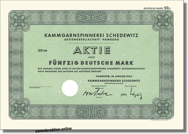 Kammgarnspinnerei Schedewitz AG - Zwickauer Kammgarn