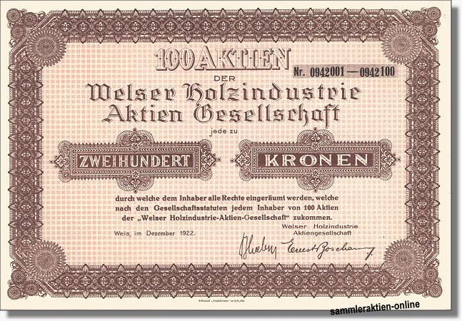 Welser Holzindustrie AG