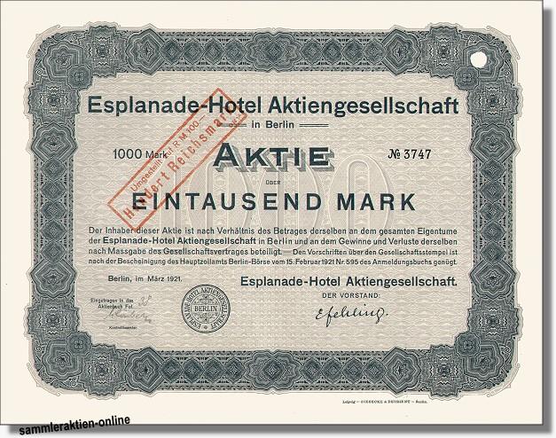 Esplanade-Hotel AG