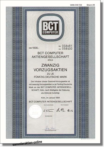 BCT Computer Aktiengesellschaft
