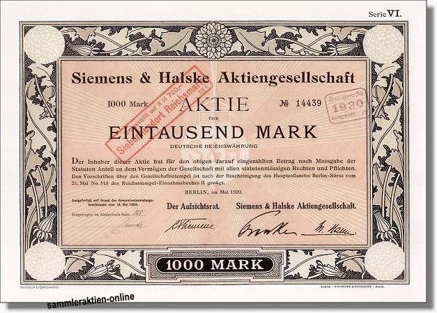 Börsenkurs Siemens Aktie