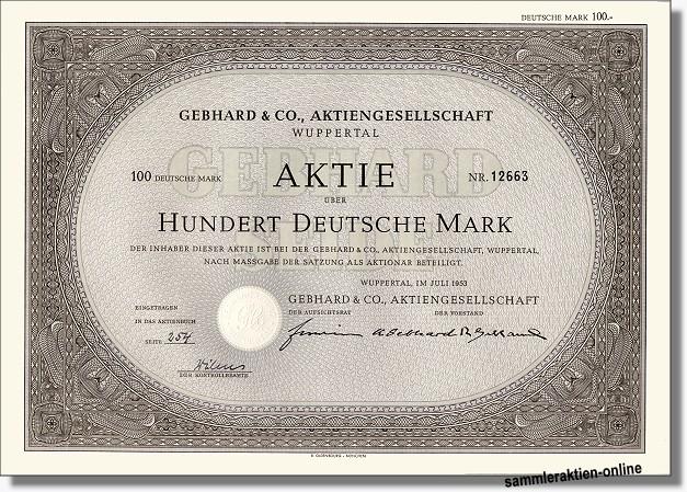 Gebhard & Co. Aktiengesellschaft
