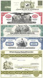 Geschenkset Wirtschaft und Industrie<br>USA Nr.08 - 5 div. Papiere